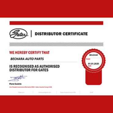 Gates Certificate