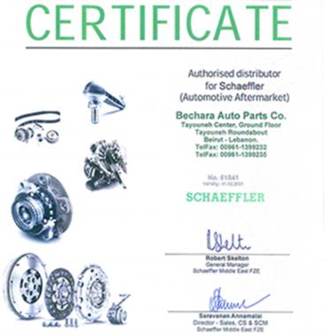 Schaeffler Certificate