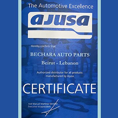 AJUSA Certificate