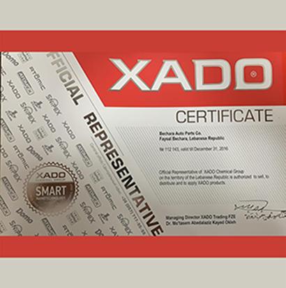 XADO Certificate